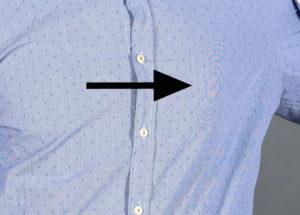 Moiré Effekt auf Kleidung